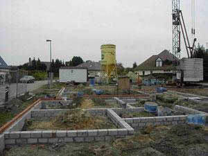 Betonblokken ondergronds metselwerk